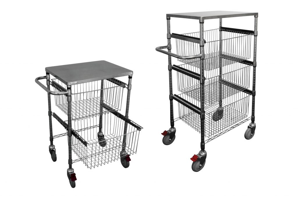 2 and 3 drawer sliding wire basket trolleys